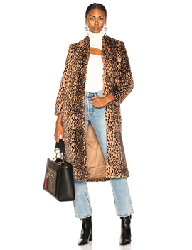 Faux Fur Coat by Michelle Mason