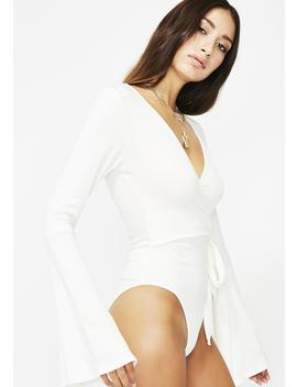 Come Correct Wrap Bodysuit by Audrey 31