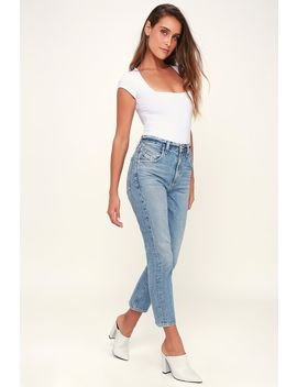 Palmer Light Wash High Waisted Straight Leg Jeans by Agolde