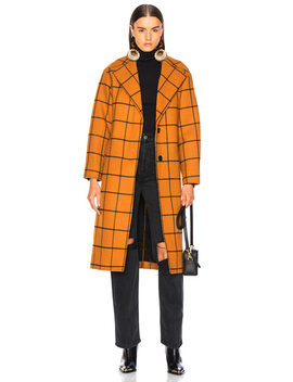 Long Check Overcoat by Self Portrait