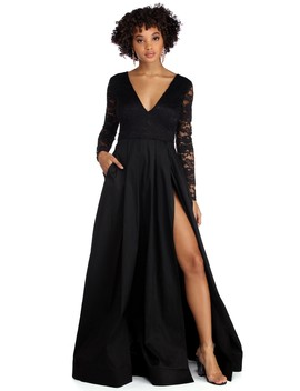 Regina Formal Taffeta And Lace Dress by Windsor