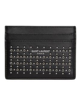 Black Studded Card Holder by Saint Laurent