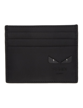 Black I See You 'bag Bugs' Card Holder by Fendi