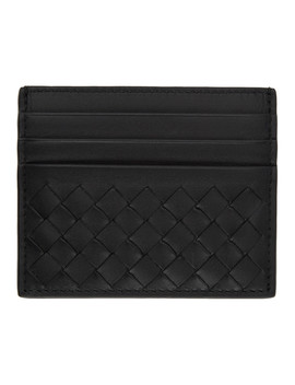 Black Classic Intrecciato Card Holder by Bottega Veneta