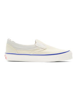 White Inside/Out Og Classic Slip On Sneakers by Vans