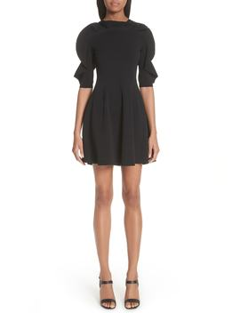 Lace Inset Ruffle Sleeve Dress by Valentino