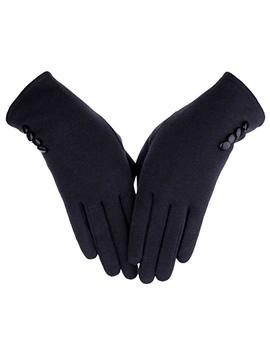 Knolee Women's Button Touch Screen Glove Lined Thick Warmer Winter Gloves by Knolee