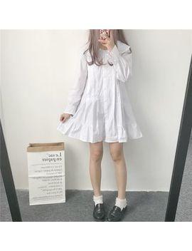 Yoshimi   Long Sleeve Ruffle Hem Dress by Yoshimi