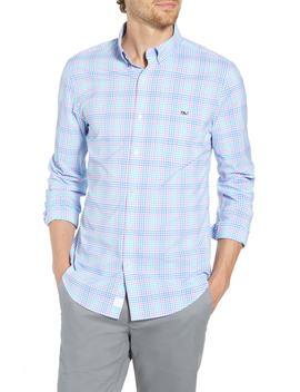 Ridge Hill Slim Fit Check Performance Sport Shirt by Vineyard Vines