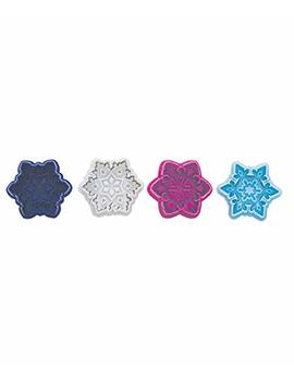 R & M International Set Of 4 Easy To Use Beautiful, Intricate Assorted Snowflake Pastry/Cookie Stampers by R & M International