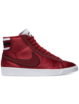 Women's Blazer Mid Premium Casual Sneakers From Finish Line by Nike