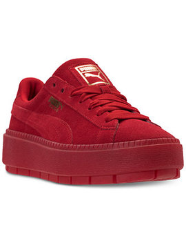 Women's Suede Platform Trace Valentine's Day Casual Sneakers From Finish Line by Puma
