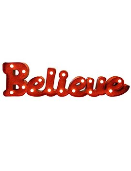 Christmas Festival Led Light Marquee Sign Battery Operated Table Desk Ornament Decoration (Believe) by Christmas Festival