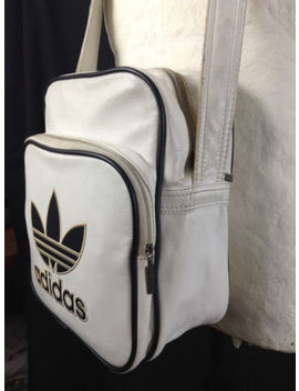 Adidas Trefoil Mini Crossbody Bag Sack Purse Body Handbag Faux Leather by Adidas