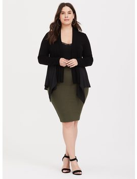 Olive Ponte Pencil Skirt by Torrid