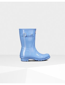 "<Span Itemprop=""Name"">Women's Original Short Gloss Rain Boots</Span>:                     <Span>Vivid Blue</Span> by Hunter"