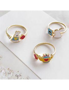Siatra   Girl / Rabbit / Teapot / Poker Ring (Various Designs) by Siatra