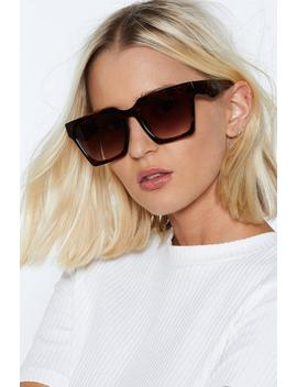 Square Eyes Oversized Shades by Nasty Gal