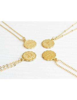 Dainty Zodiac Necklace | Zodiac Necklace | Delicate Zodiac Necklace | Gold Zodiac Necklace | Horoscope Necklace | Celestial Jewelry by Etsy