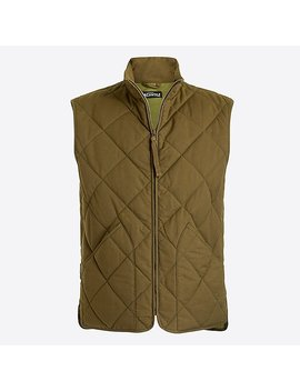 Waxed Quilted Walker Vest. by J.Crew