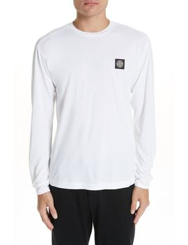 Logo Patch Long Sleeve Cotton Tee by Stone Island