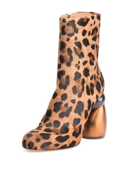 Leopard Print Calf Hair Boot by Dries Van Noten