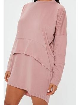 Rose Oversized Jersey Overlay T Shirt Dress by Missguided
