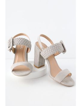 Cappadocia Light Grey Suede High Heel Sandals by Lulu's