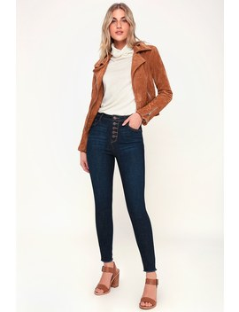 Bruna Dark Wash High Waisted Skinny Jeans by Lulu's