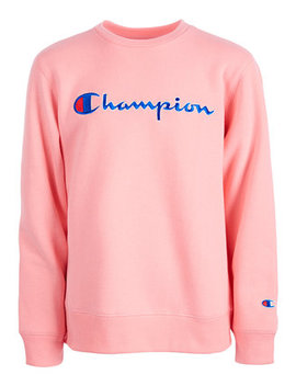Big Girls Heritage Logo Sweatshirt by Champion