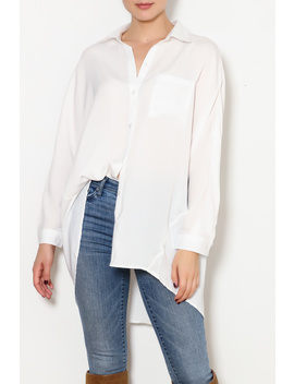 White Satin Top by Dor L'dor, New York