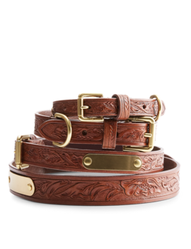 Dakota Leather Dog Collar by Ralph Lauren