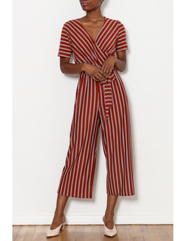 Striped Wrap Jumpsuit by Local Color Nyc, New York City