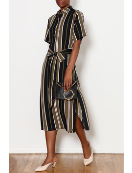 Olive Stripe Dress by Dor L'dor, New York