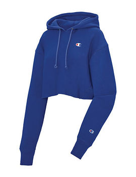 Cut Off Cropped Hoodie by Champion Reverse Weave