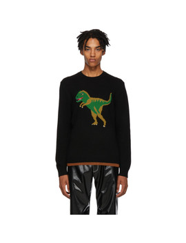 Black Intarsia Rexy Sweater by Coach 1941