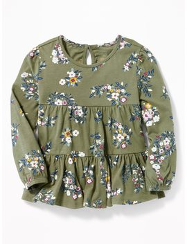 Tiered Floral Top For Toddler Girls by Old Navy