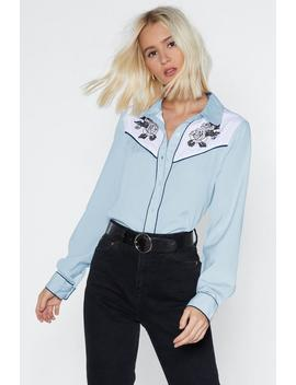 West Of My Love Western Shirt by Nasty Gal