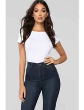 Alisa Short Sleeve Top   White by Fashion Nova