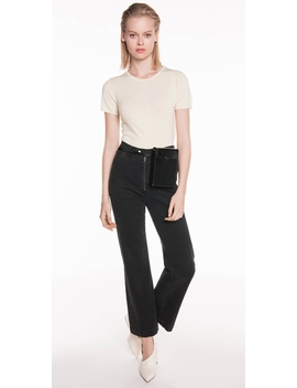 Short Sleeve Round Neck Knit by Cue