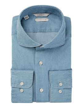 Blue Denim Shirt by Suitsupply