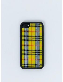 Wildflower Yellow Plaid I Phone 6/7/8 Case by Wildflower