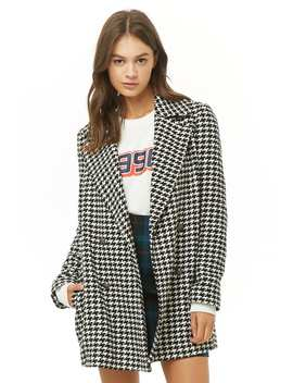 Houndstooth Double Breasted Coat by Forever 21