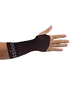 Copper Compression Recovery Wrist Sleeve, 1 Guaranteed Highest Copper Content. This Wrist Support/Brace Helps With Symptoms Of Carpal Tunnel, Rsi, Arthritis, Tendonitis, Sprains & More! (1 Sleeve) by Copper Compression