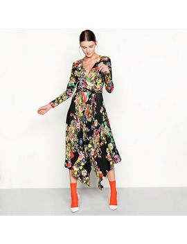 Studio By Preen   Highland Floral Print Long Sleeve Wrap Dress by Studio By Preen