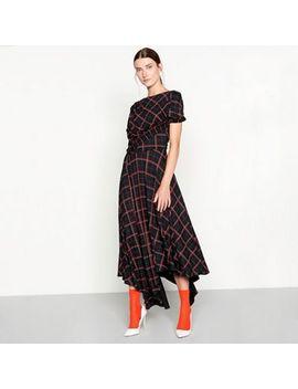 Studio By Preen   Black Check Print Midi Dress by Studio By Preen