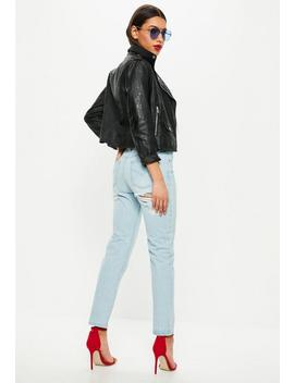 Blue Low Rise Boyfriend Jeans by Missguided