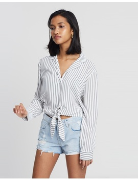 Suzie Tie Front Top by Cotton On