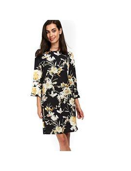 Wallis   Black Bird Print Tunic Dress by Wallis