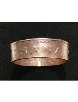 Bronze Coin Ring 1967 Ghana 1 Pesewa, Ring Size 10 And Double Sided by Etsy